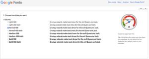 GoogleFont選択ubuntu