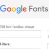 GoogleFont
