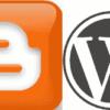 BloggerとWordPressロゴ