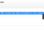 ウイルス付き迷惑メールpdf形式添付ファイル
