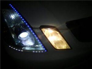 ベロフLEDヘッドランプフォースレイ装着前純正右点灯