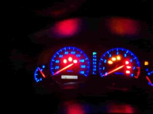 スピードメーターパネルLED化後発光状態