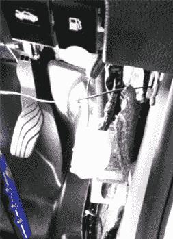 エクストレイルドアミラー自動格納装置取り付け時