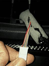ハザード増設裏側コネクタ配線色