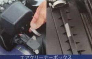 アルミテープチューン貼る場所エアクリーナーボックス