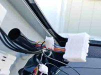 エクストレイルT32カーテシランプフットランプマイナスコントロール配線エレクトロタップ後